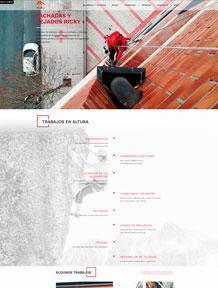 Diseño web Ricky fachadas y tejados